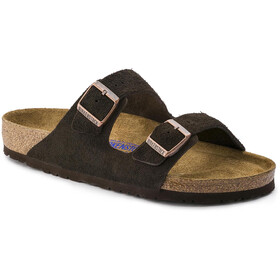 Birkenstock Arizona Sandals Suede Leather Soft Footbed Regular, negro